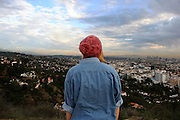 At the first peak of Runyon Canyon