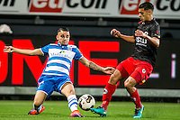 ROTTERDAM - Excelsior - PEC Zwolle , Voetbal , Eredivisie , Seizoen 2016/2017 , Stadion Woudestein , 21-10-2016 , PEC Zwolle speler Calvin Verdonk (l) in duel met Excelsior speler Khalid Karami (r)