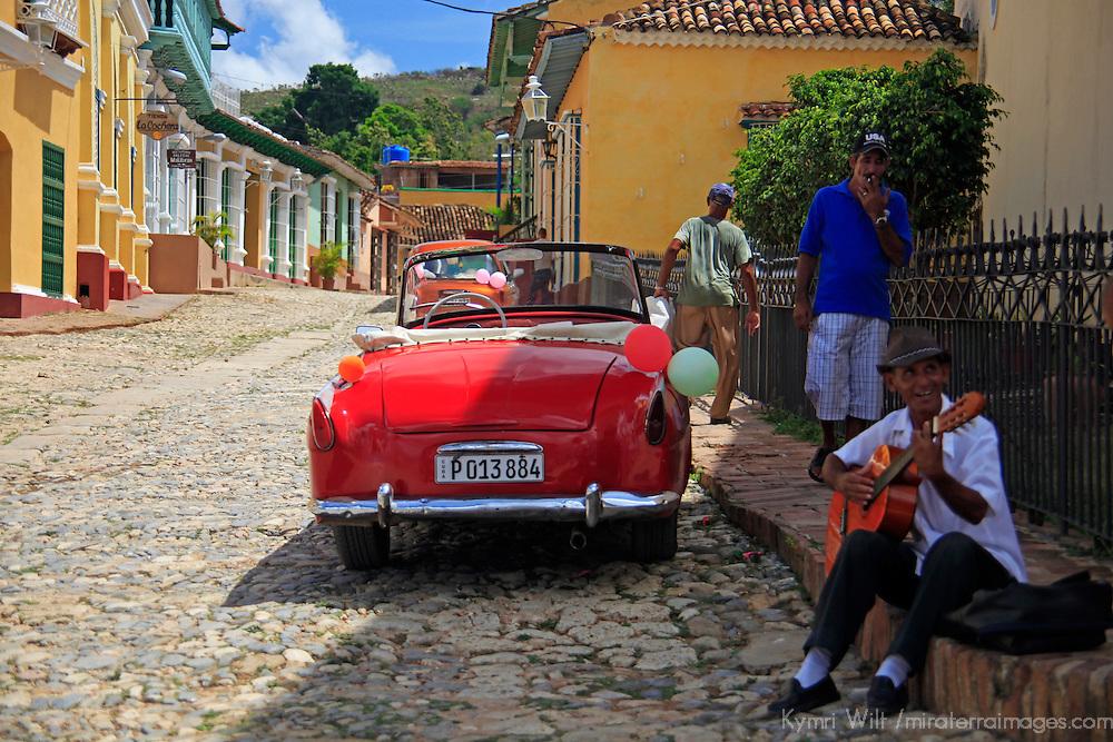 Central America, Cuba, Trinidad. Street corner of Trinidad.