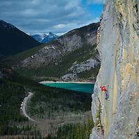 Alik Berg Rock Climbing 5.12 Barrier Mountain Kananaskis