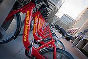 USA, Virginia, Arlington (Crystal City). Capital Bikeshare station.