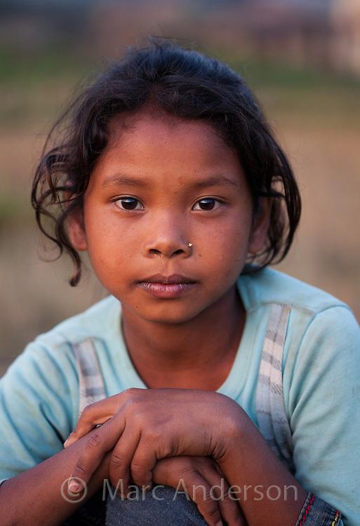 Nepalese girl, Bardiya, Nepal