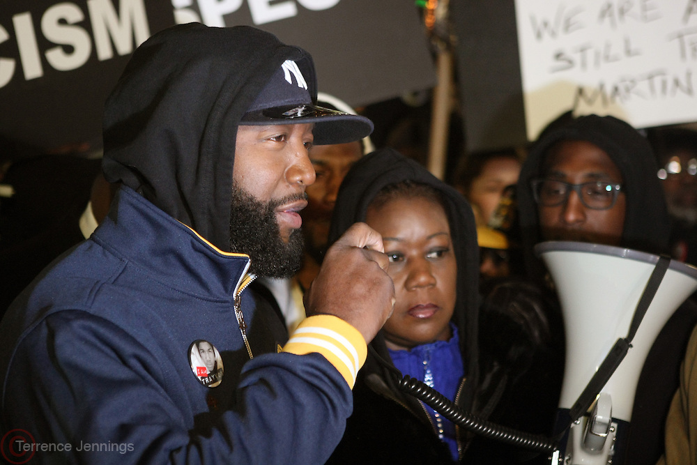 "New York, NY-February 26: (L-R) Tracy Martin and Sabrina Fulton attend the "" Million Hoodie ""  Candlelight vigil honoring the one-year anniversary of Trayvon Martin's death held at Union Square Park on February 26, 2013 in New York City.© (Terrence Jennings)"