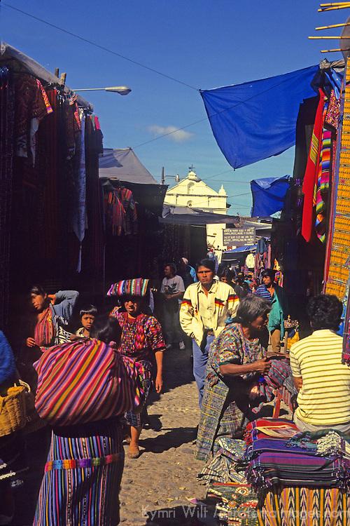 Central America, Latin America, Guatemala, Chichicastenango. Market day scene in Chichicastenango.