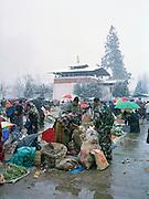 Market day in Paro.