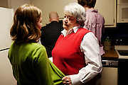 Linda Groeber, 67, talks with her granddaughter Annie Brown, 9 during a family visit in Lutherville-Timonium, Maryland on Wednesday, January 13, 2010. As she ages Linda has relied more on her daughters Tracey Brown and Annie Groeber to help with day-to-day tasks.