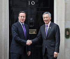 MAR 27 2014 David Cameron and PM of Singapore at 10 Downing St