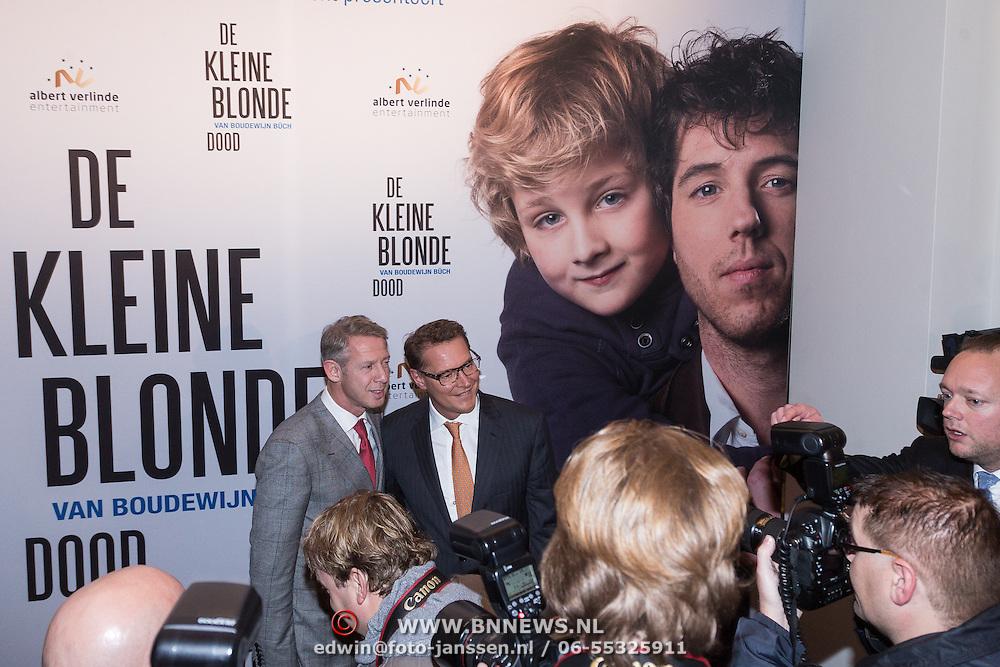 NLD/Den Haag/20131209 - Premiere de Kleine Blonde Dood, Albert Verlinde en partner Onno Hoes