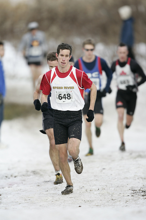 Guelph, Ontario ---29/11/08---  SCOTT ARNALD runs the senior mens race at the 2008 AGSI Canadian Cross Country Nationals in Guelph, Ontario November 29, 2008..GEOFF ROBINS Mundo Sport Images