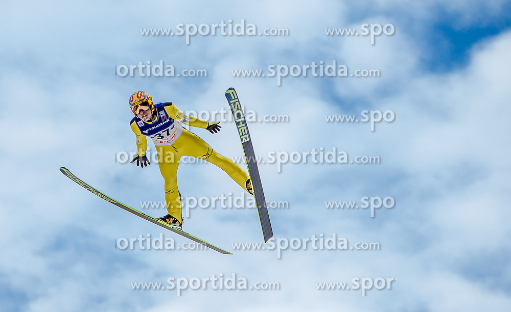11.01.2014, Kulm, Bad Mitterndorf, AUT, FIS Ski Flug Weltcup, Bewerb, im Bild Noriaki Kasai (JPN) // Winner Noriaki Kasai (JPN) during the FIS Ski Flying World Cup at the Kulm, Bad Mitterndorf, Austria on <br /> 2014/01/11, EXPA Pictures &copy; 2014, PhotoCredit: EXPA/ JFK