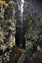 The Cathedral Waterfall at Monte Roraima top.