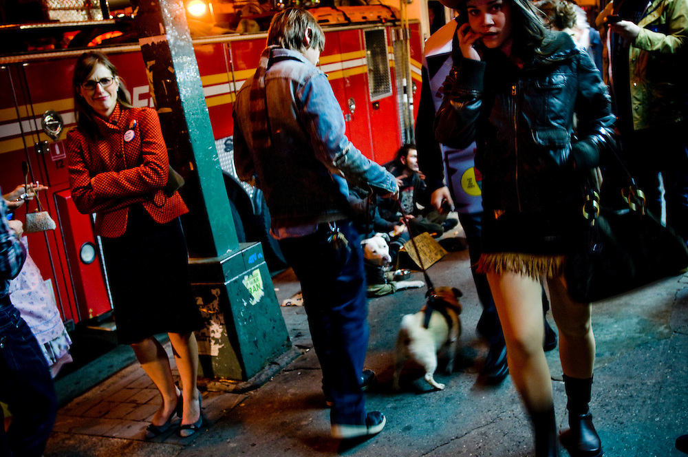 Halloween in New York - .Bedford Avenue, Williamsburg...Photographer: Chris Maluszynski /MOMENT