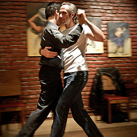 Buenos Aires, Argentina 16 August 2009<br /> La Marshall group runs gay tango in Buenos Aires. This group of professional dancers organizes Milongas, where gay public can dance tango and take private lessons. Milonga La Marshall gathers every Saturday in the dance club Bien Porteno. <br /> PHOTO: EZEQUIEL SCAGNETTI