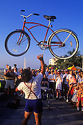 Image of a street performer and entertainer at Mallory Sqaure in Key West, Florida, American Southeast