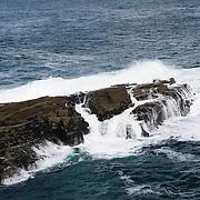 Atlantic coastline with rocks and waves, County Clare, Ireland.  Loop Head Peninsula.
