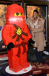 Denise Lewis attends the Lego Ninjago:  Masters Of Spinjitzu UK TV premiere at The Empire Cinema, Leicester Square, on Saturday 7 February 2015