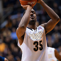 WEST LAFAYETTE, IN - JANUARY 13: Rapheal Davis #35 of the Purdue Boilermakers shoots a free throw against the Penn State Nittany Lions at Mackey Arena on January 13, 2013 in West Lafayette, Indiana. (Photo by Michael Hickey/Getty Images) *** Local Caption *** Rapheal Davis