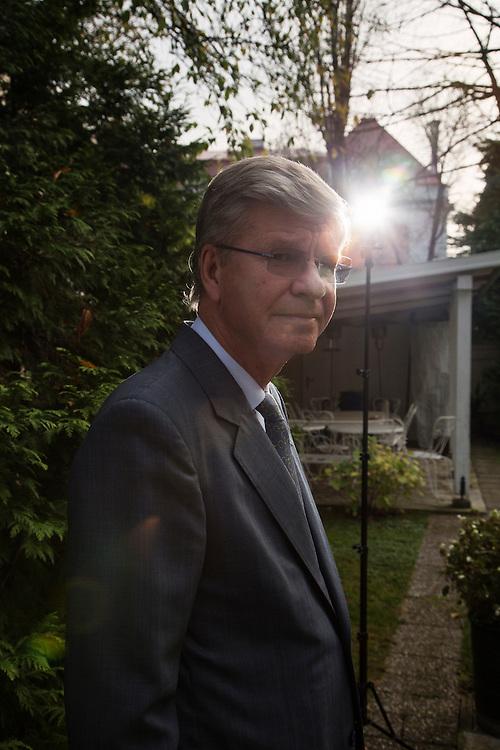Ambassador Christer Asp in the residence of the Swedish Ambassador in Belgrade, Serbia. November 19, 2014.