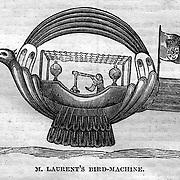M. Laurent's Bird-Machine. Flying machines (balloons etc) from Harper's Weekly, July 25, 1857
