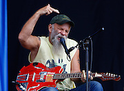 Seasick Steve performs live on the Main Stage during day two of Reading Festival 2011 on August 27, 2011 in Reading, England.  (Photo by Simone Joyner)