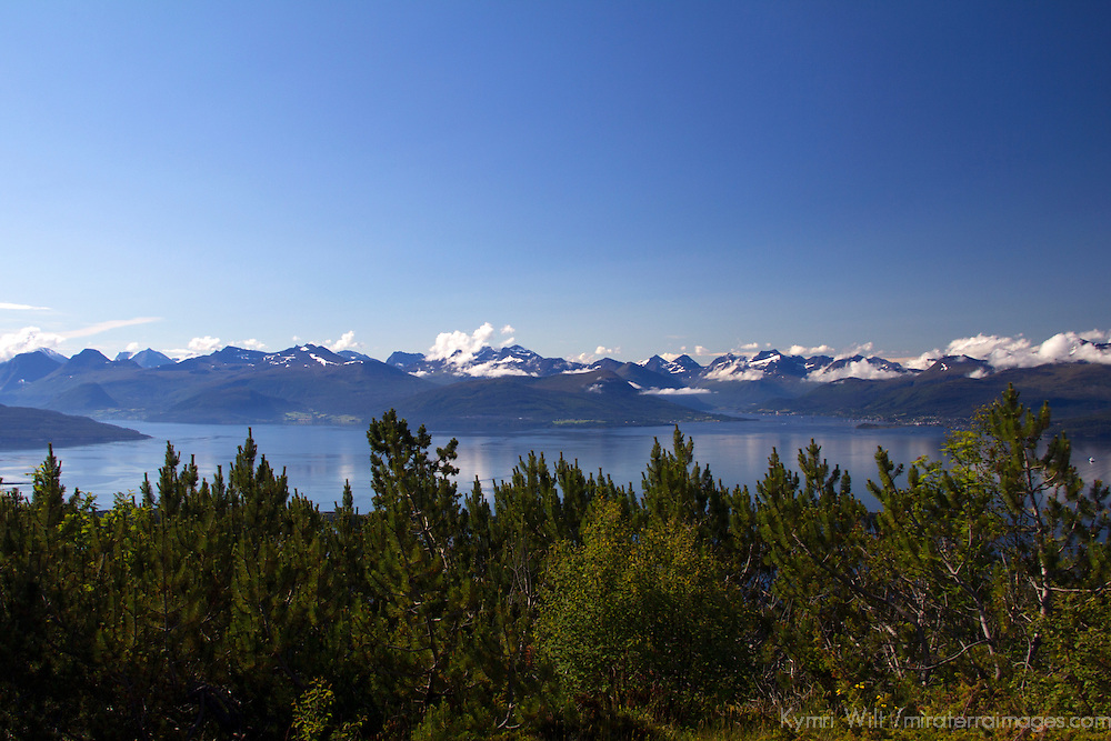 Europe, Norway, Molde. View from Varden Overlook, Molde.
