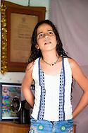 Girl in Jiguani, Granma, Cuba.