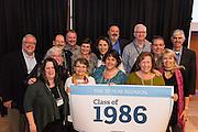 Alumni gather in the Hemmingson Center Ballroom Oct. 9. (Photo by Edward Bell)
