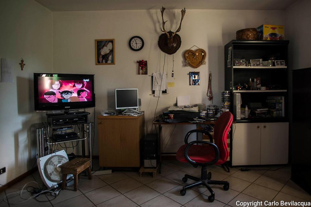 La stanza dove Stefano (nome di fantasia)  passa gran parte delle sue giornate