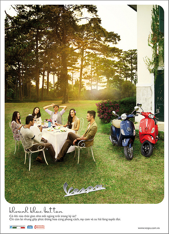 A national ad campaign for Vespa across Vietnam.