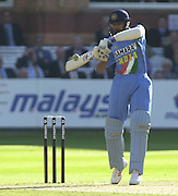 .13/07/2002.Sport - Cricket -NatWest Series Final- Lords.England vs India.Anil Kumble .