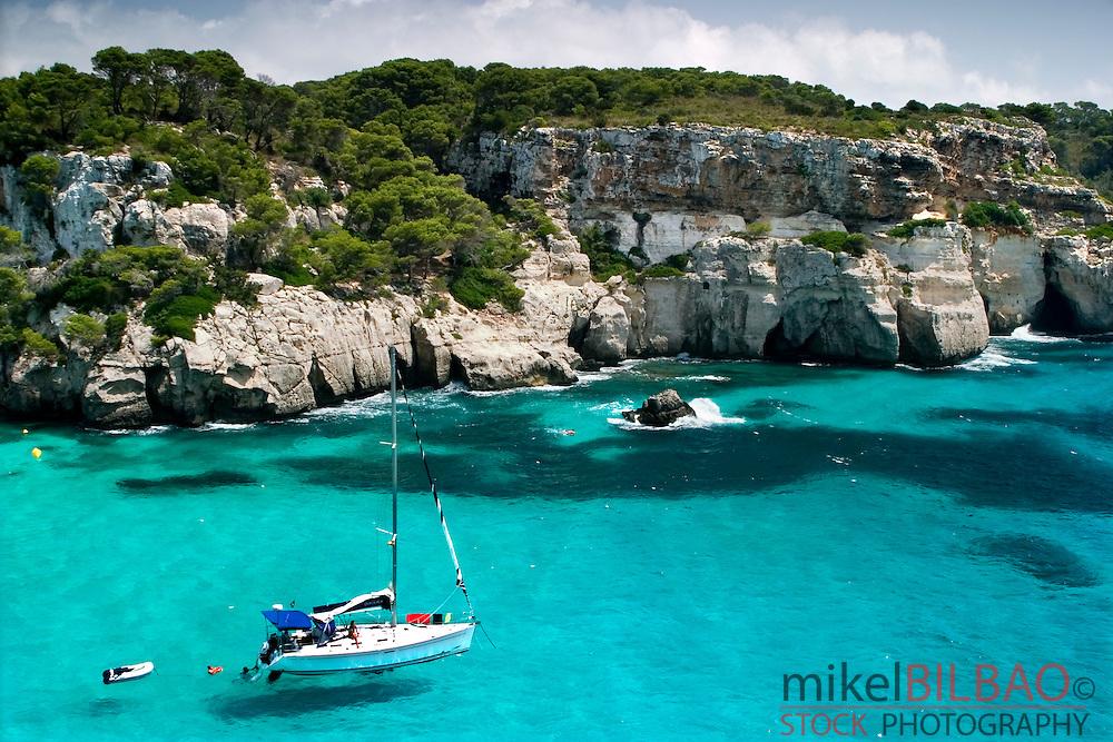 Macarella Cove. <br /> Minorca, Balearic Islands, Spain, Europe