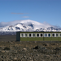 The workers home in the highland camp close to the largest glacier in Europe Vatnjokull. At one point there were more that 1.500 workers living in the highland making it the fifth largest cities in Iceland. Karahnjukar, Iceland,