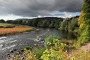 There is a lovely walk along the River Usk near Abergavenny, at the edge of the Brecon Beacons in Wales