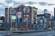 American Nightscapes / Brooklyn Mural<br /> <br /> USA; New York; Brooklyn, 4 th Avenue, Hess gas station,2014