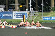 Amsterdam, NETHERLANDS,CAN BM4-,  2011 FISA U23 World Rowing Championships, Wednesday, 20/07/2011 [Mandatory credit:  Intersport Images].