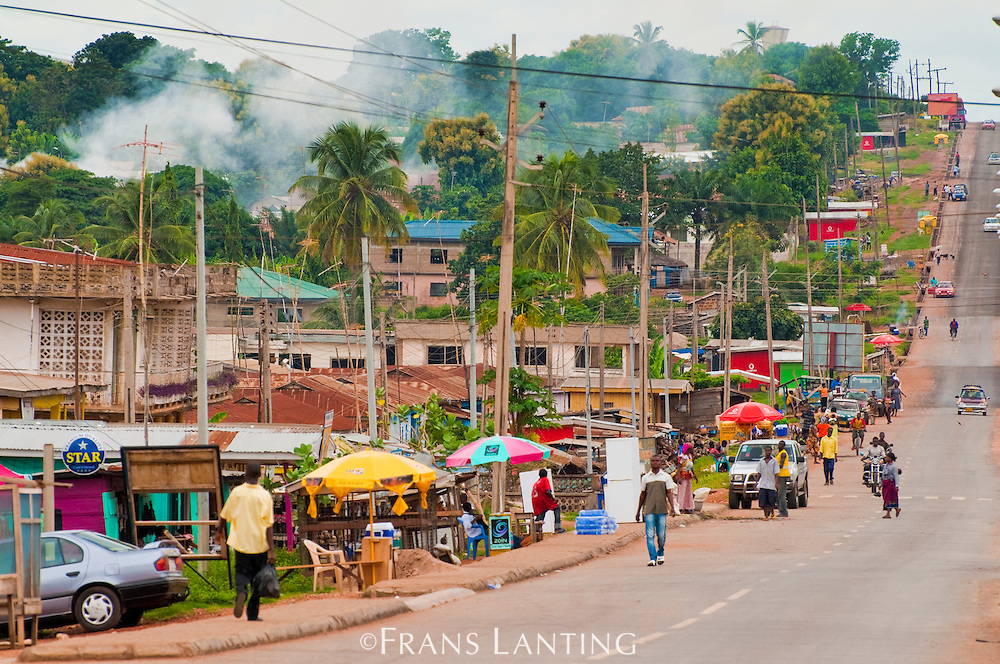 Main road through ??, Ghana