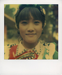 Polaroid sx70 portrait in Yunnan province, China, Asia.