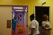 Workers clean up after a day at Jackson Women's Health Clinic in Jackson, Mississippi on Thursday, November 7, 2012. It is the last abortion clinic in the state of Mississippi.