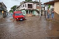 Flood in Holguin, Cuba.