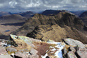 View from Sgurr Mor, one of the munro peaks of Beinn Alligin, near Torridon in the north-west Highlands of Scotland