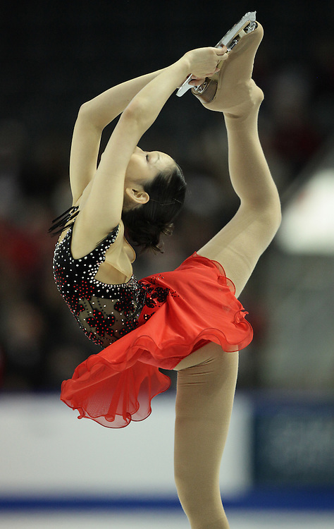 -20101029- Kingston, Ontario,Canada--<br /> Haruka Imai of Japan skates her short program at Skate Canada International in Kingston, Ontario, Canada, October 29, 2010.<br /> AFP PHOTO/Geoff Robins