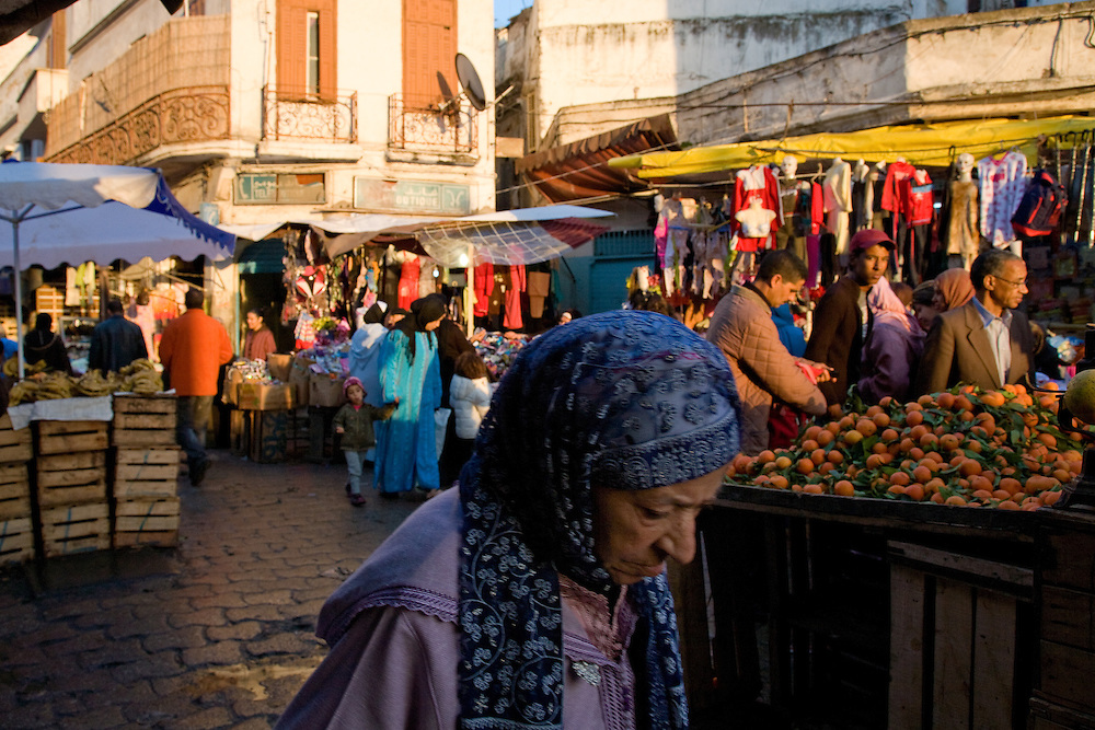 Casablanca's Ancienne Medina, Place de Marrakesh. Even though this is the oldest part of the city, most of the buildings date from the 19th century and it lacks the medieval character of other city medinas.