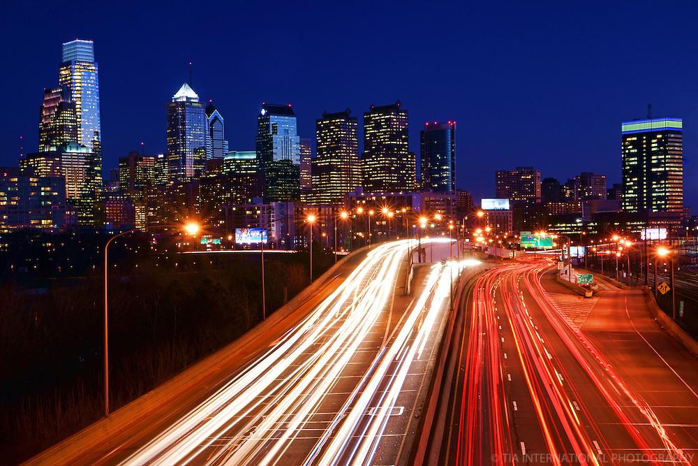 Philadelphia Skyline from Interstate 76