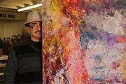 Painter Antonio Ochoa at his studio in Ciudad Juarez, Chihuahua, Mexico<br /> <br /> &copy; Stefan Falke<br /> www.stefanfalke.com<br /> La Frontera: Artists along the US Mexican Border