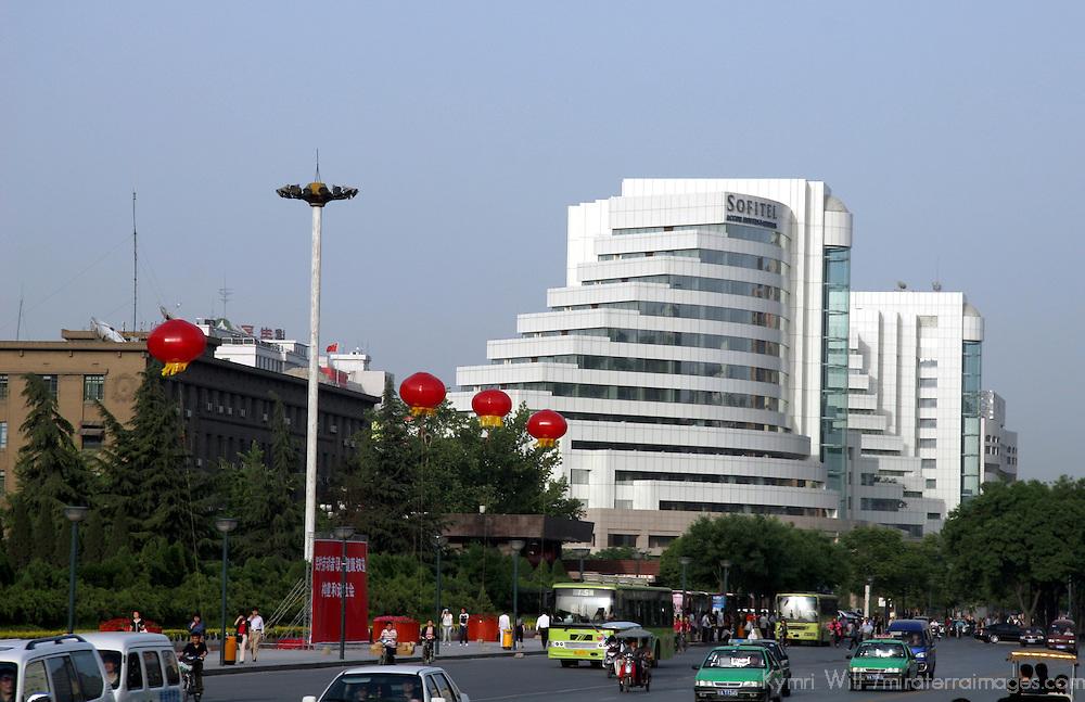 Asia, China, Xian. Sofitel Hotel in Xian.