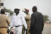 Soldiers oversee preparations at Garang Masoleum in Juba for Southern Sudan's independence ceremonies on July 9...