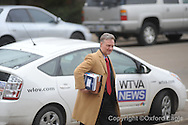 U.S. Attorneys leave federal court for FBI Agent Hal Nielson's arraignment on Monday, February 1, 2010 in Oxford, Miss.