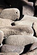 Mani paryer stones.