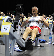 Birmingham, Great Britain, Gold medallist, Men 45-50 HWT. Andrew SANGSTER, at the 2008 British Indoor Rowing Championships, National Indoor Arena. on  Sunday 26.10.2008 . [Photo, Peter Spurrier/Intersport-images]