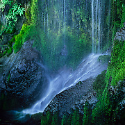 North America, United States, Northwest, Pacific Northwest, West, Washington, Olpmpic National Park, Olympic NP, Olympic, rain forest. Un-named waterfall in the verdant rainforests of Olympic National Park, Washington.
